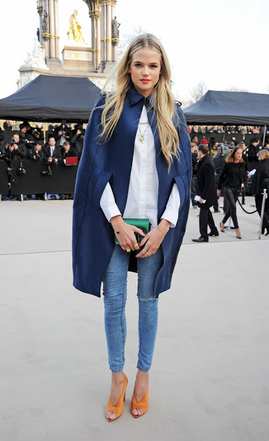 gabriella wilde wearing burberry at the burberry prorsum womenswear autumn winter 2013 show-1